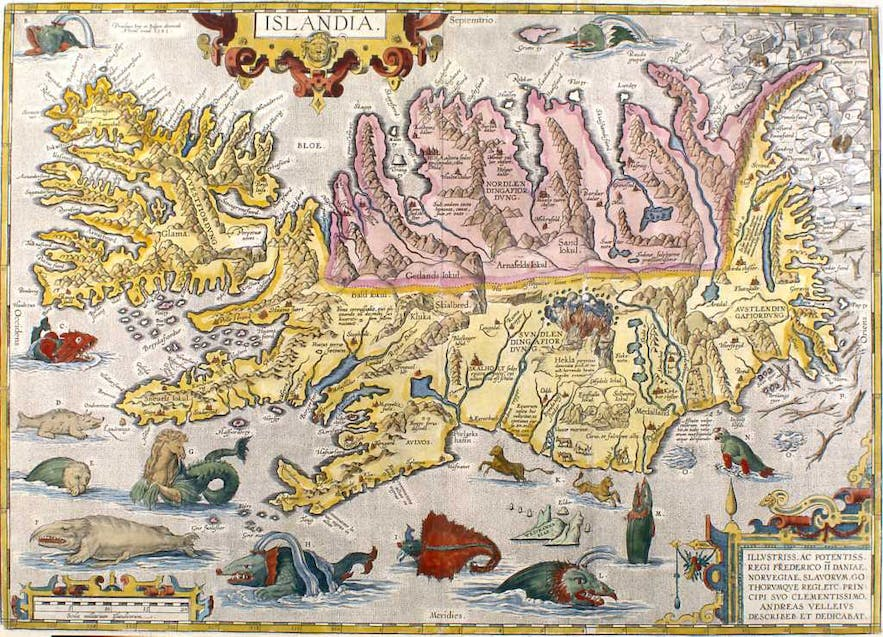 A 16th Century map of Iceland.