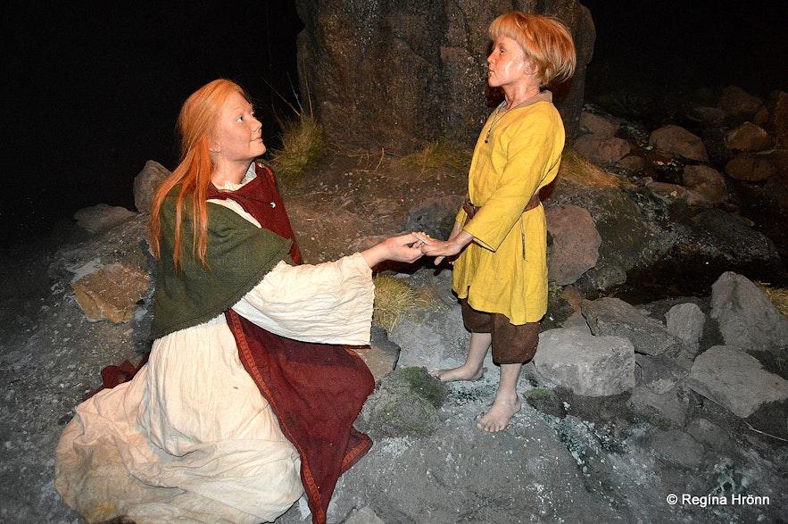 Photo taken at the Saga Museum in Reykjavík - Melkorka and her son Ólafur pá