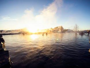 Secret Lagoon, Dinner Buffet and Northern Lights