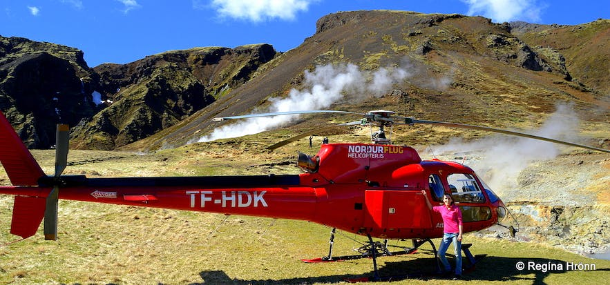 A fantastic Helicopter ride with Norðurflug from Reykjavík to a Geothermal Area in South-Iceland
