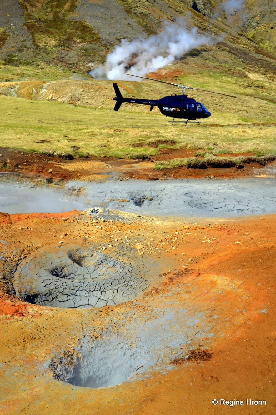 A helicopter ride in Iceland - geothermal areas