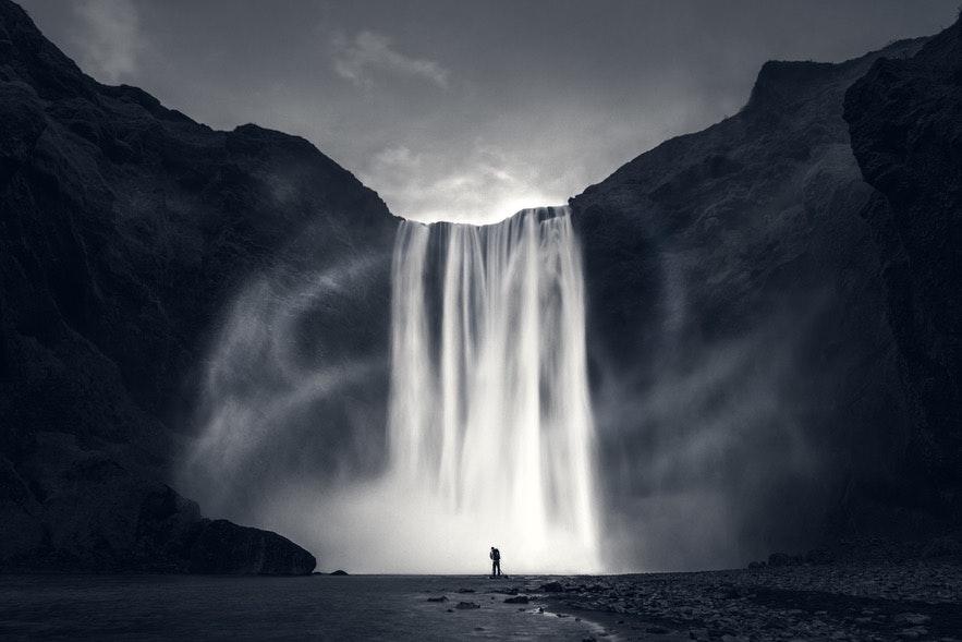 冰島斯克加瀑布