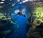 Silfra is the only place on earth where it is possible to swim directly between two tectonic plates, the North American and Eurasian.