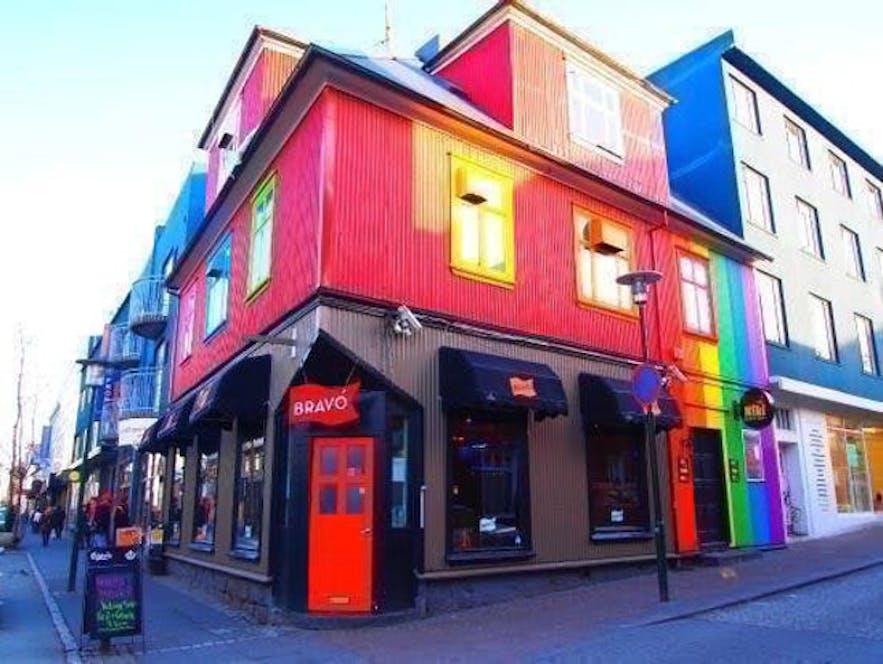 La rue la plus animée de Reykjavik