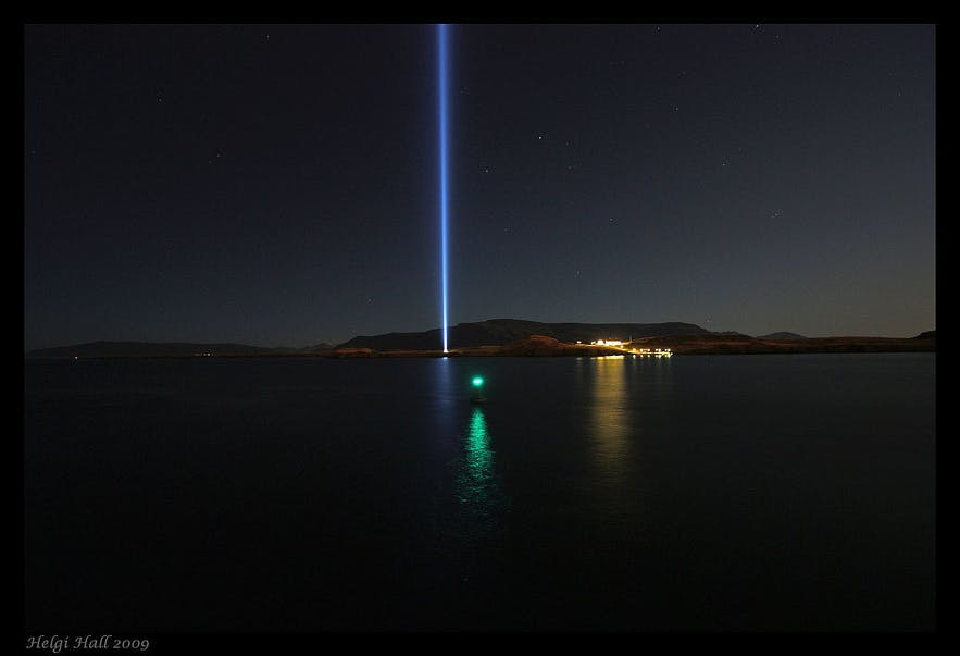 The Imagine Peace Tower is located on Viðey Island.