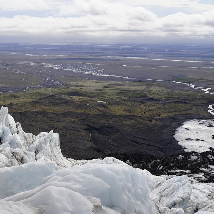 The views from atop Vatnajökull glacier are out of this world in summer.
