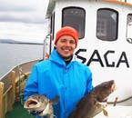 The boat crew are experienced anglers, well aware of the best fishing spots in Iceland.