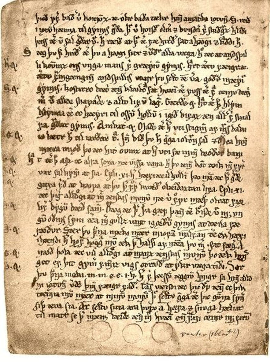 The poetic Edda, an example from the library's collection.