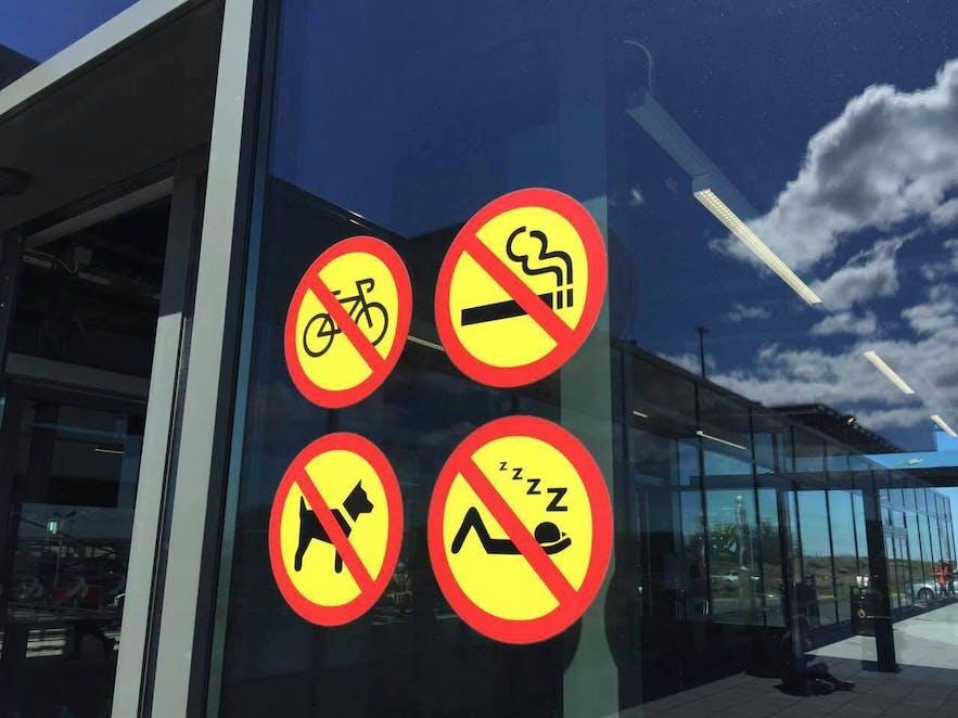 冰岛机场不允许过夜