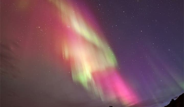 Though the magical Northern Lights will often appear as green, they are known for their sheer variety, including dazzling pink, purples and whites.