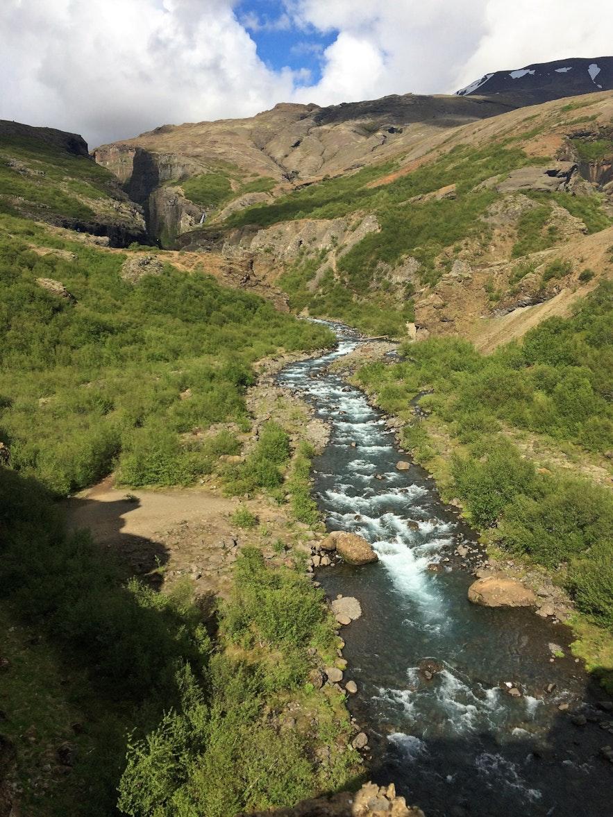 Die Botnsá - der Fluss, der den Glymur speist