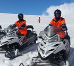 Anyone who holds a full international's driver's license is well within their rights to operate their own snowmobile.