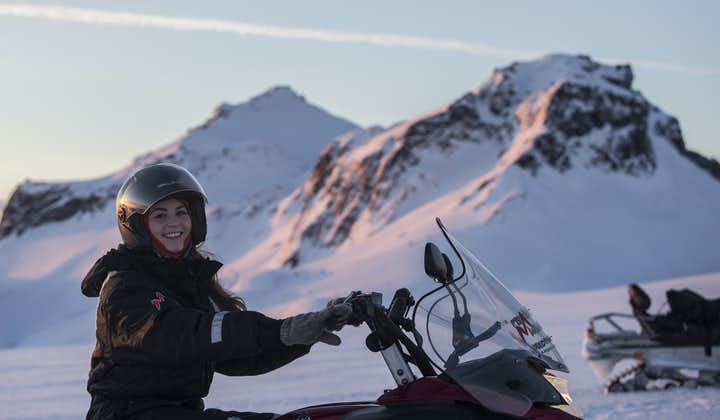 It's difficult to describe that rewarding feeling of travelling across the ice cap on your very own snowmobile.