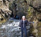 Exploring the cragged gorges of þórsmörk valley.