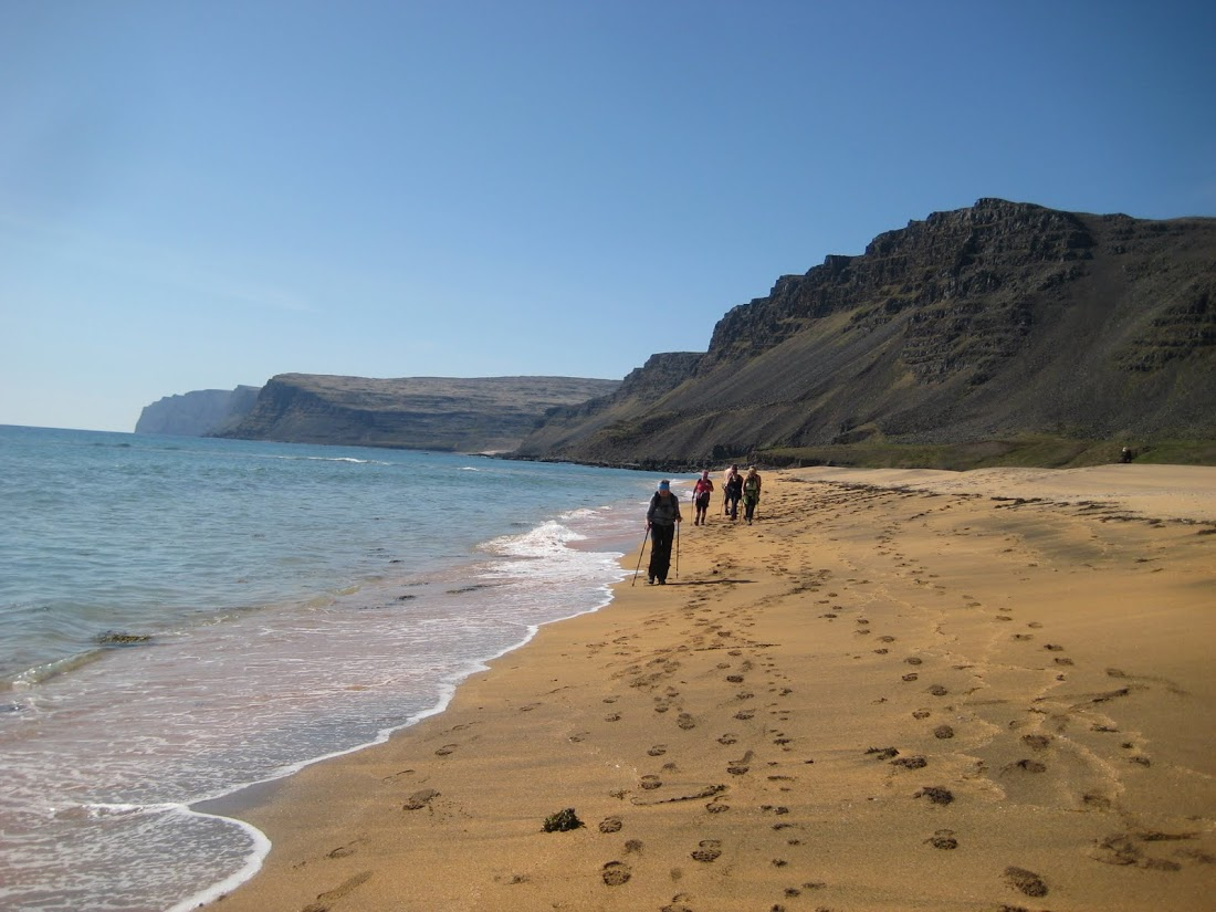 Although most of the beaches in Iceland are made up on black sand, Rauðasandur is unique for its golden shores.