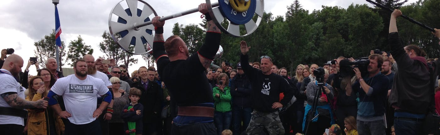 Iceland's strongest man competition on Iceland's independence day