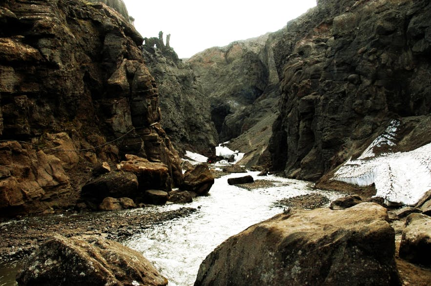 Drekagil Canyon is a dark, mysterious and fantastical site, found just nearby Askja Volcano.
