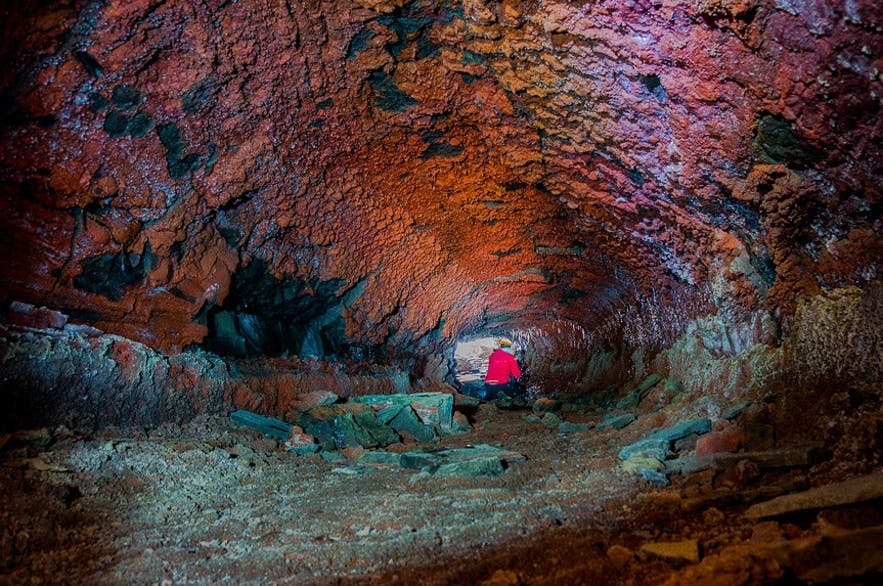 The colours of the lava cave networks can only be described as staggering.