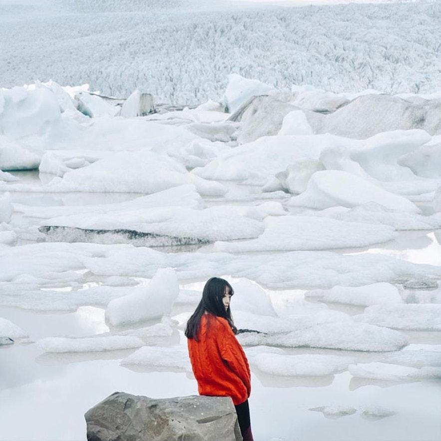 冰島冬季冰湖