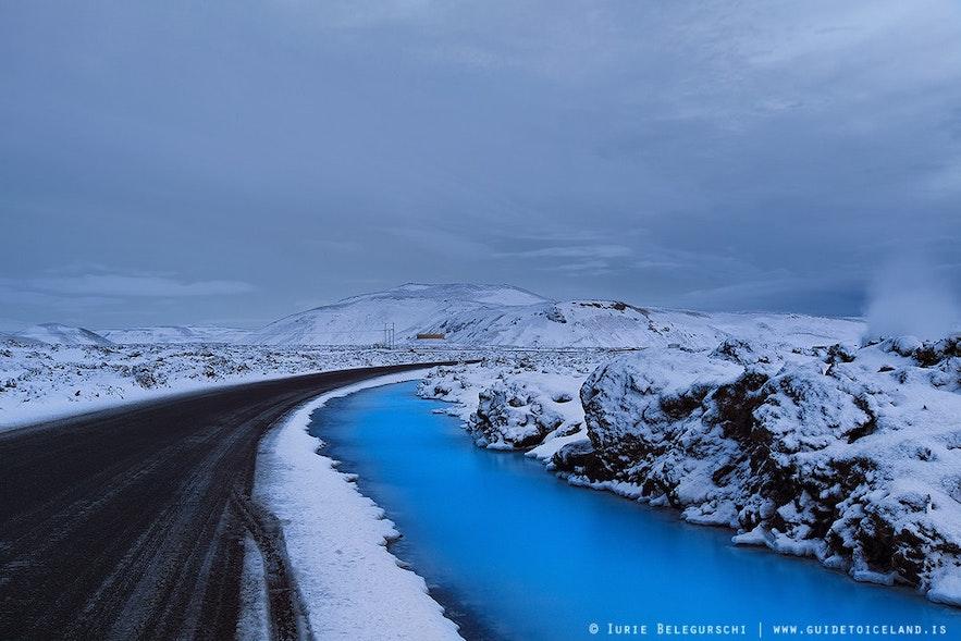 冰島冬季戶外景色