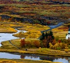 Þingvellir is famed for its rich colours and eclectic vegetation.