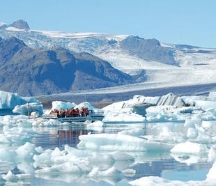 Tagestour zur Gletscherlagune Jökulsárlón   inkl. Bootsfahrt