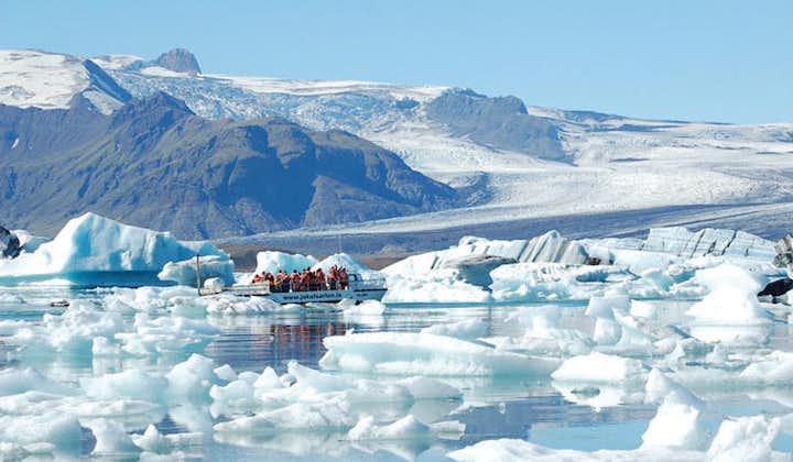 Tour por la Costa Sur desde Reikiavik | Laguna glaciar de Jökulsárlón y paseo en barco