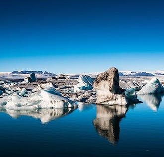 Tour por la Costa Sur | Laguna glaciar de Jokulsarlon, Vik y cascada