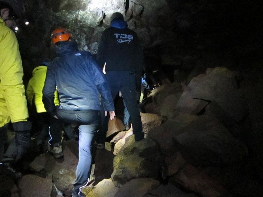 洞窟の中の様子