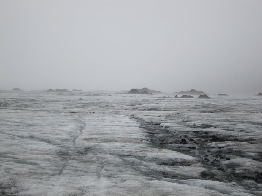 氷河の上からの眺め