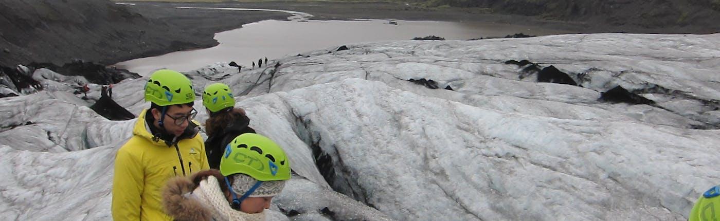 氷河の上を歩き始めます!