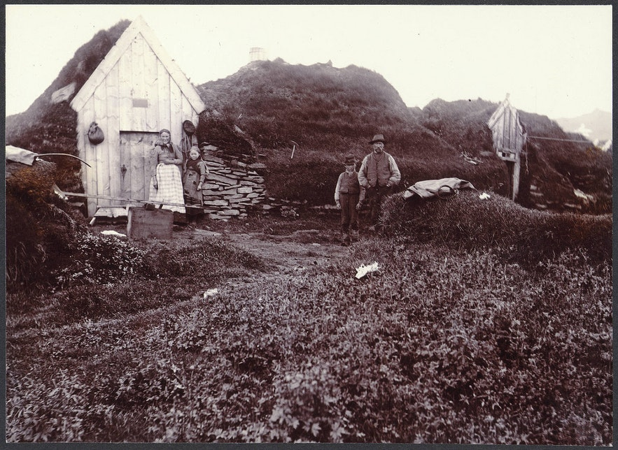 伝統的なアイスランドの家、ターフハウス