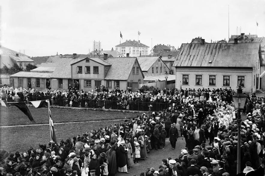 Women's Suffrage in Iceland coincided with the Independence movement from Denmark.