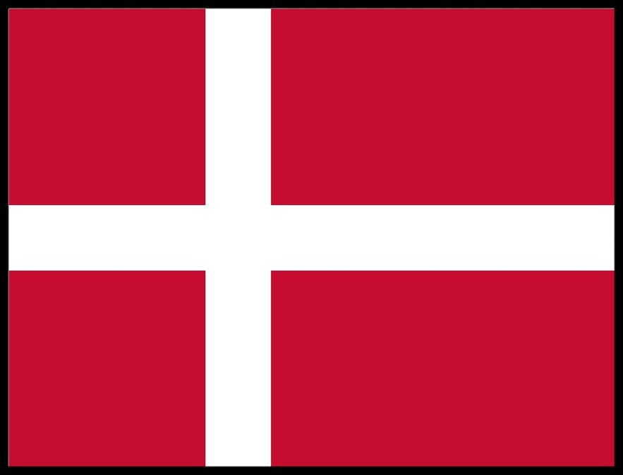 """The Danish flag (known as the """"Dannebrog"""")."""