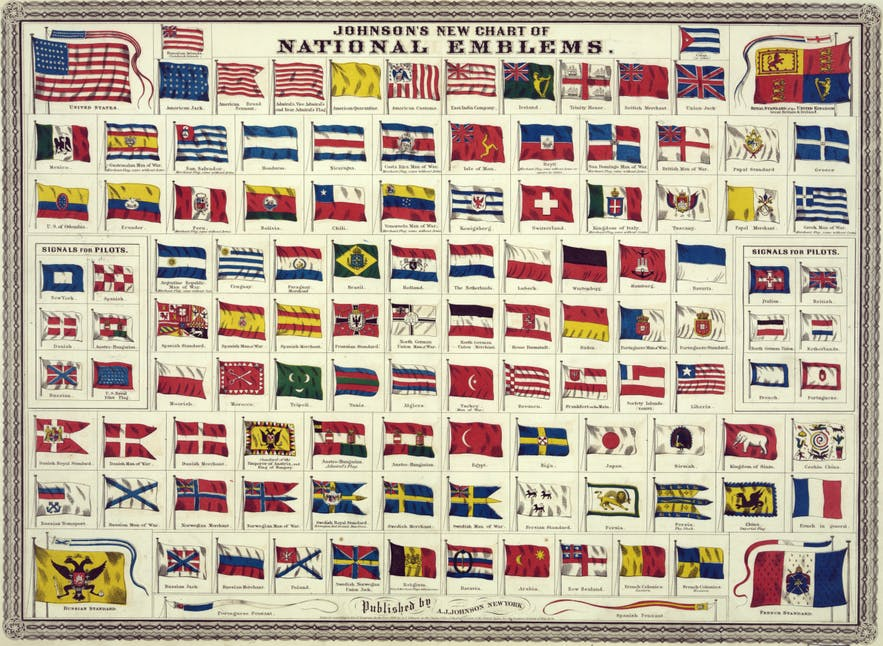 A 19th Century collection of National Flags and Standards.