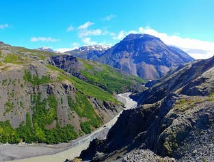 Mountains and Canyons in South-East Iceland