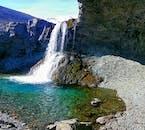 The impressive waterfall Skútufoss is a hidden gem in South Iceland.