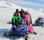 Only licensed drivers can drive a snowmobile, but children and non-drivers can ride as passengers to also be able to enjoy this northern winter adventure.