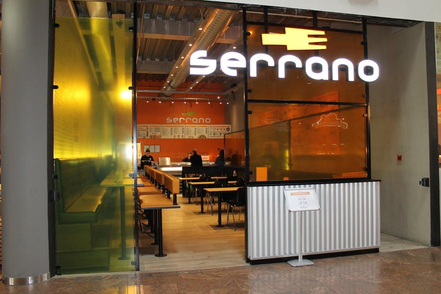 One of Serrano's many locations in Smáralind Shopping Mall