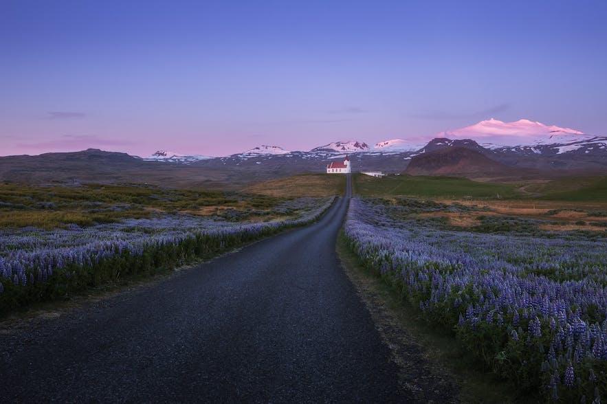 冰岛的斯奈山半岛海港