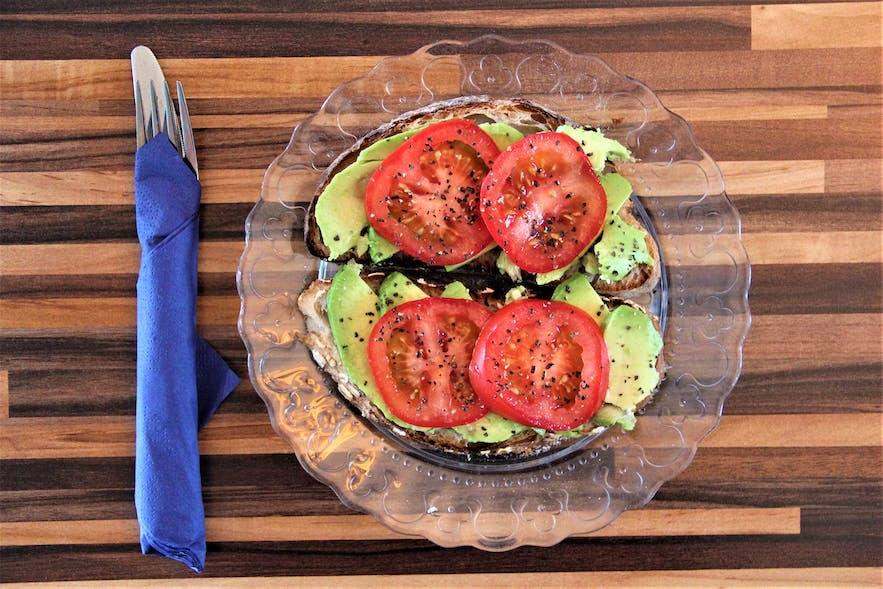 Fish & More's avocado-tomato sandwich