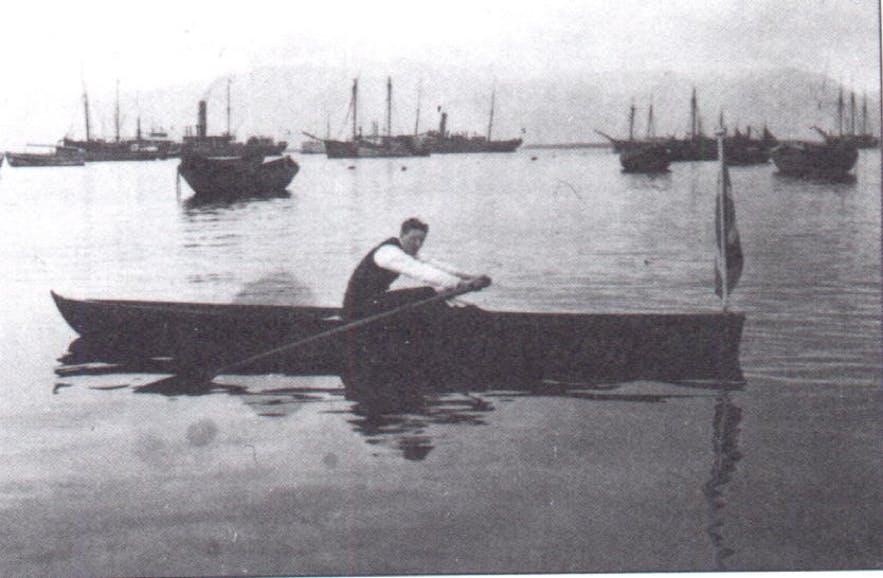A photo from the 1913 rowing incident.