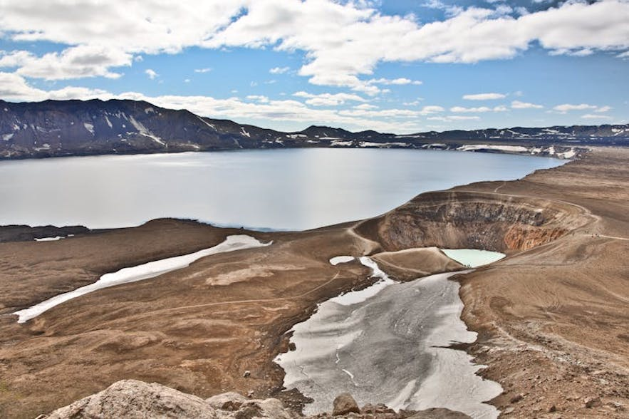 Víti caldera is filled with mineral rich waters