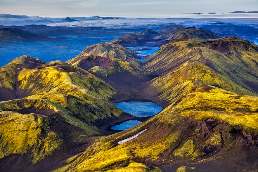 Veiðivötn were formed in an eruption in 1477