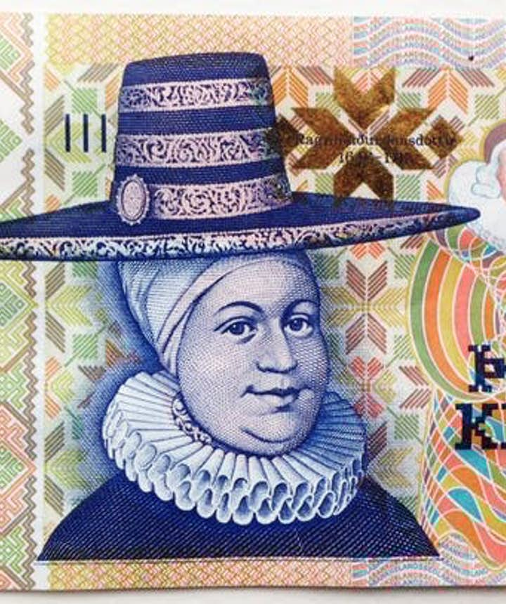 アイスランドの5000クローナのお札