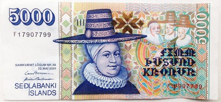 5000 Króna Bill