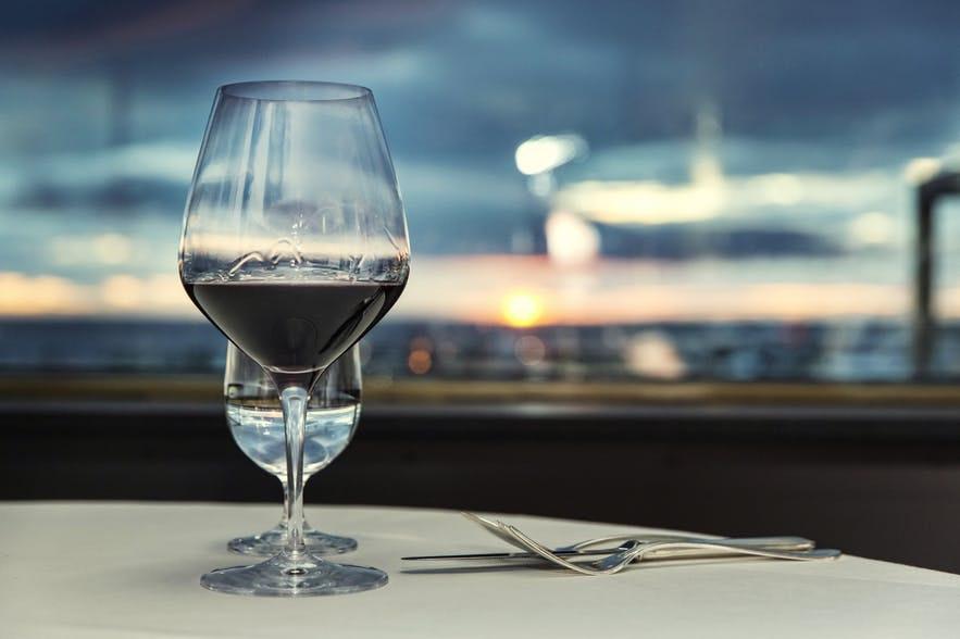Grilliðというレストランからレイキャビクを見渡す景色が楽しめる