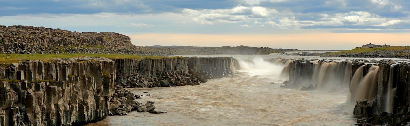 Selfoss, one of the main waterfalls along the Jökulsá á Fjöllum.