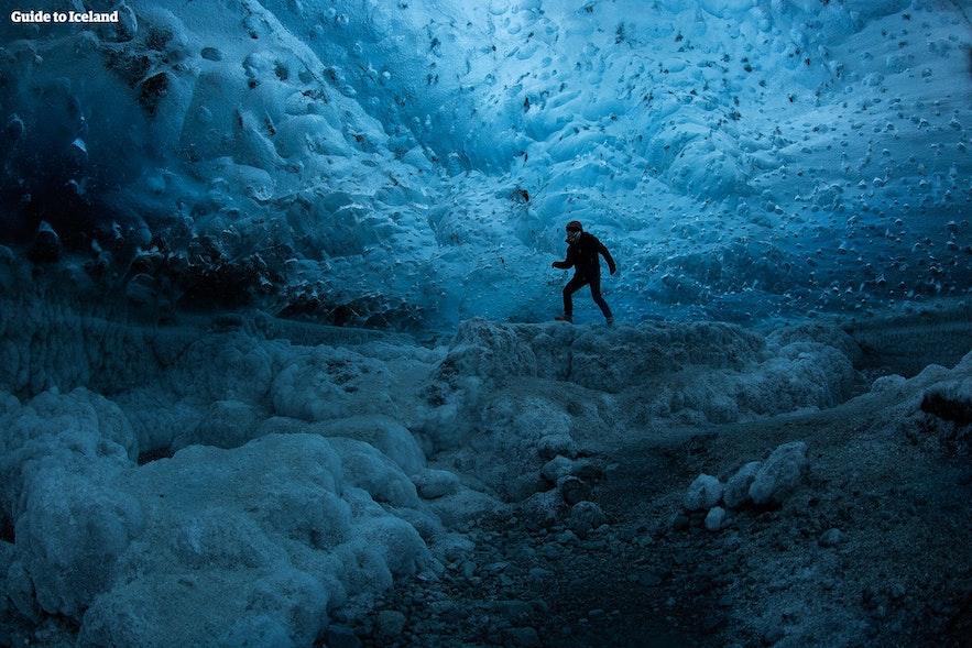 Jaskinia lodowa w lodowcu Vatnajokull