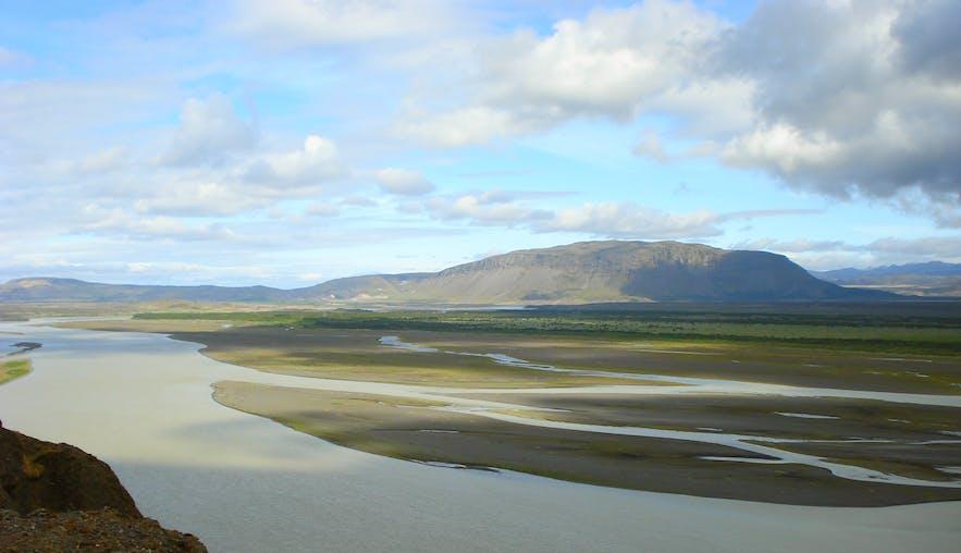 Thjórsá is Iceland's longest river, running a full length of 230 km.
